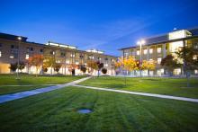 uc merced campus at night